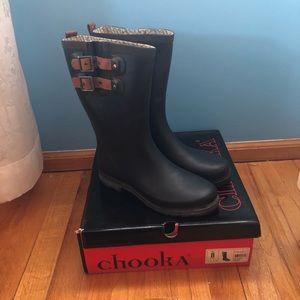 Chooka Tall Black Rain Boots with Original Box